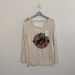 Chaser Texas Rodeo Distressed Graphic Top